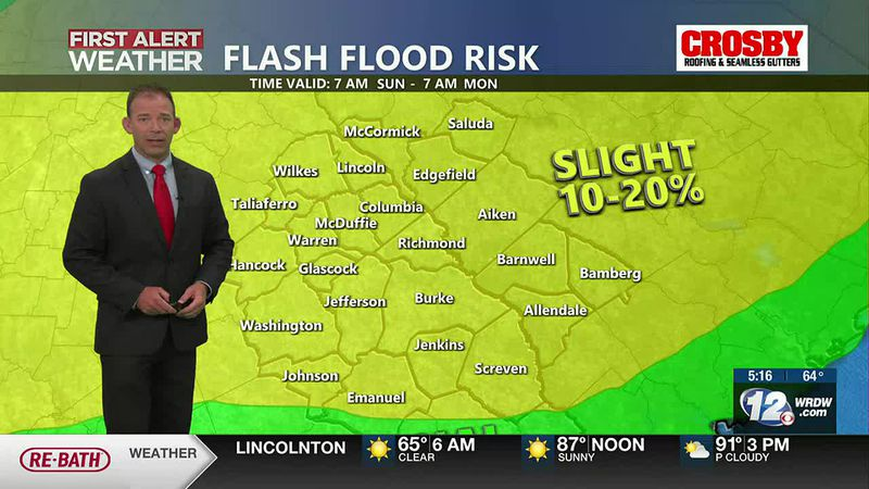 First Alert Sunday and Monday