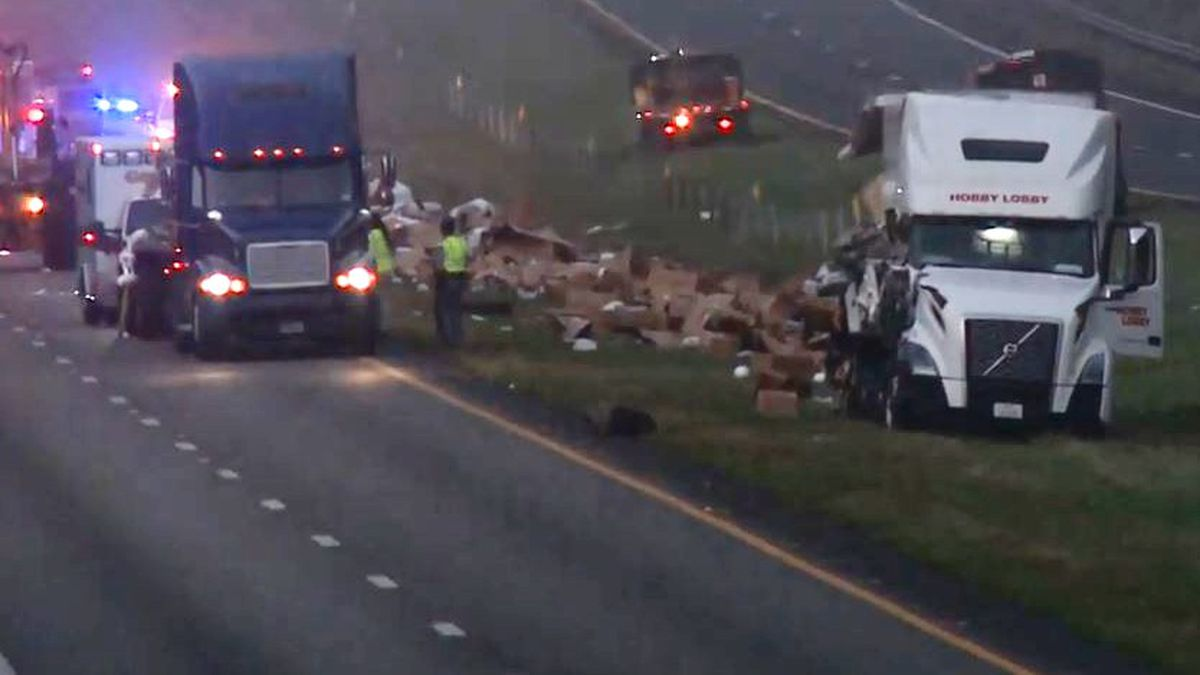This was the scene after a crash involving big-rigs closed eastbound Interstate 20 several miles into South Carolina from Georgia.