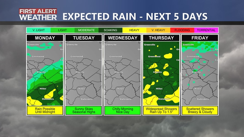 More rain on the way Thursday and possibly Friday.