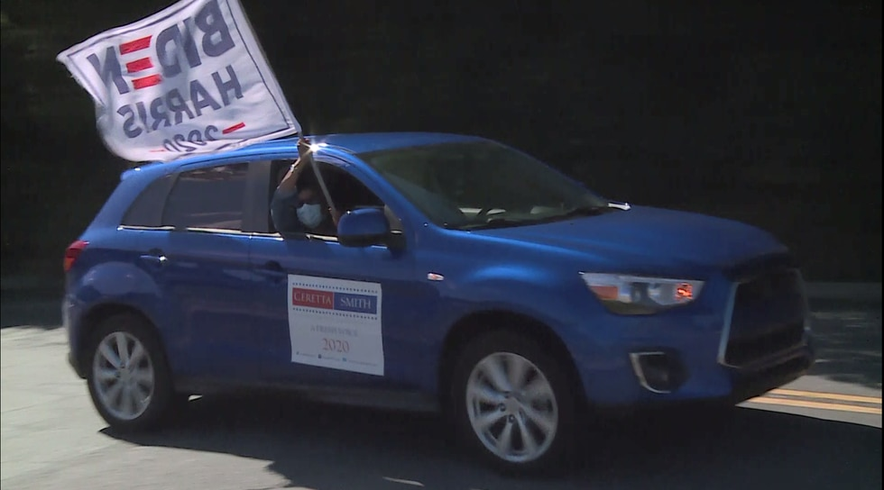 Dozens of cars took to the streets in support of Presidential Candidate Joe Biden.