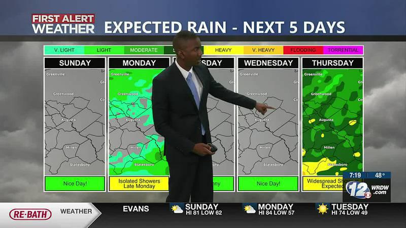 Rainfall possible
