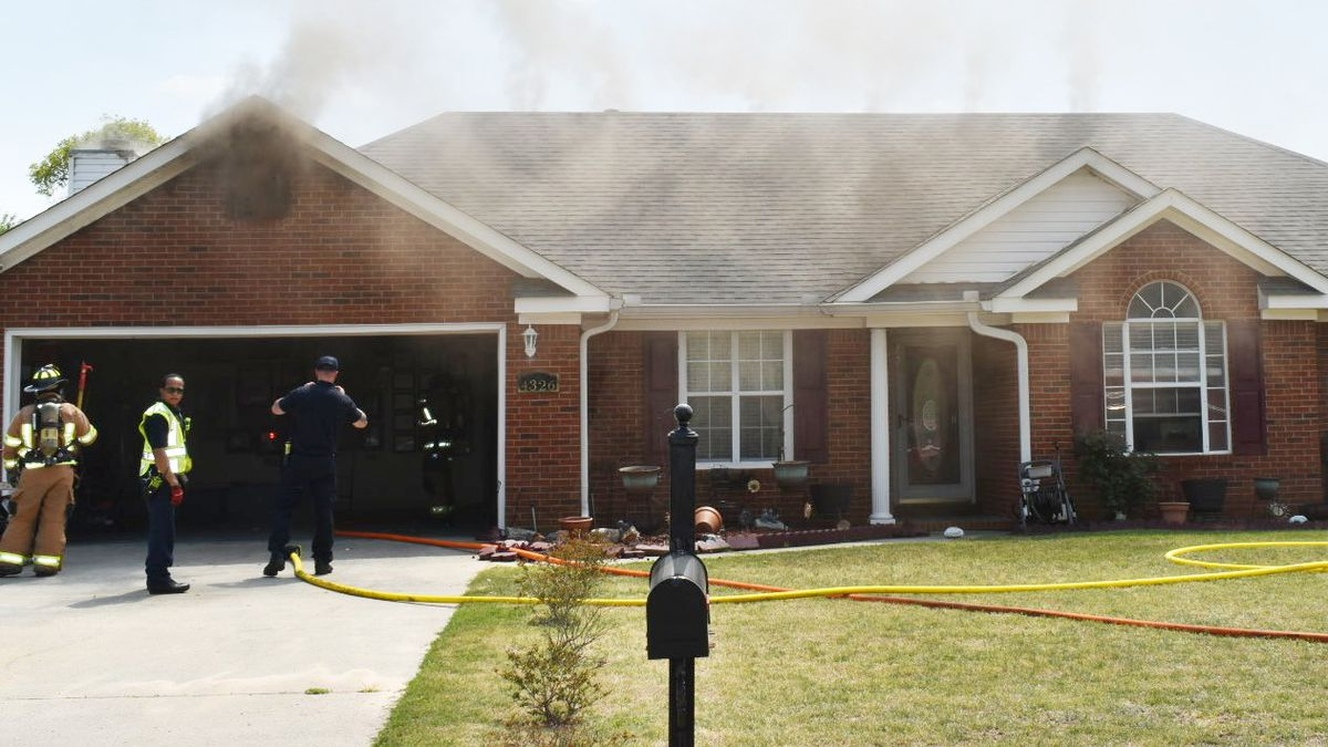 A fire started outside and spread to the inside of in the 4000 block of Creekview Drive.