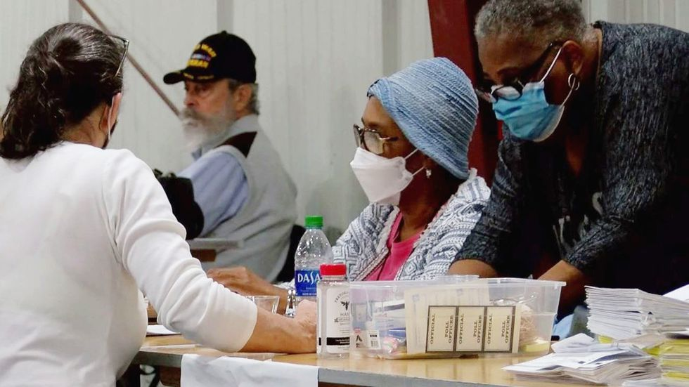 Election workers count votes this week in Chatham County.