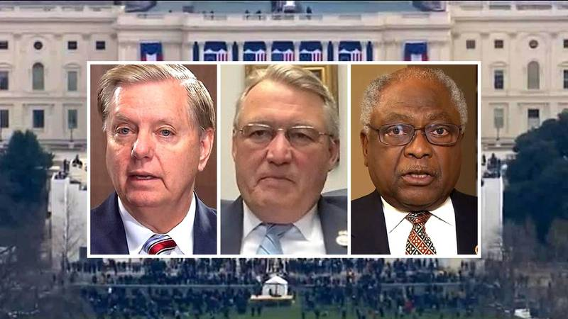 From left: Lindsey Graham, Rick Allen and Jim Clyburn