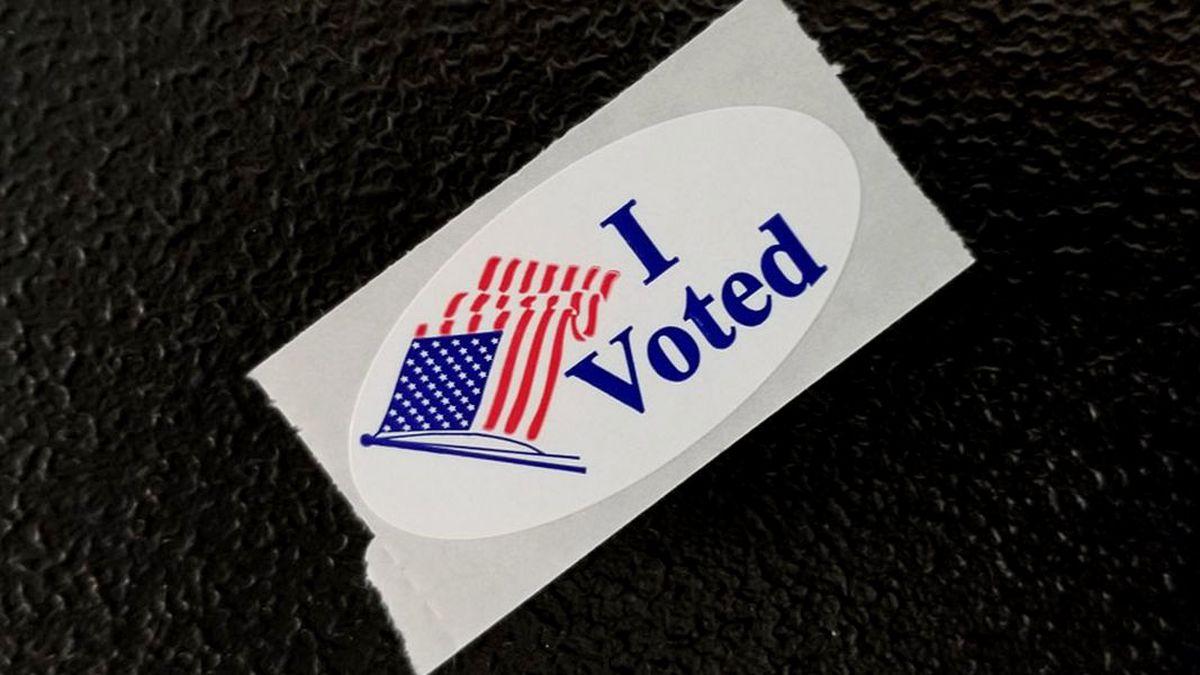 "An ""I voted"" sticker"