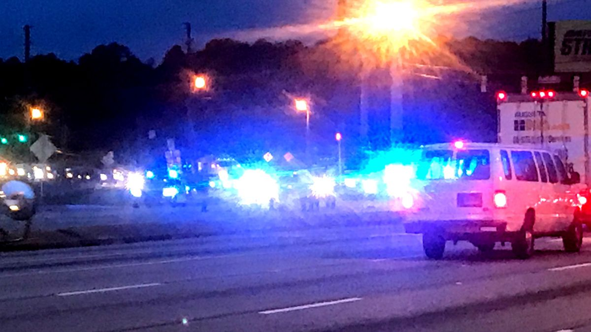 This was the scene a little after 7 a.m. Oct. 29, 2020, where a pedestrian was struck at Gordon...