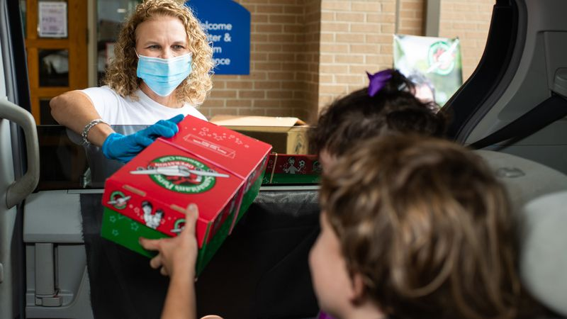 Shoebox gifts for kids can be dropped off this week.