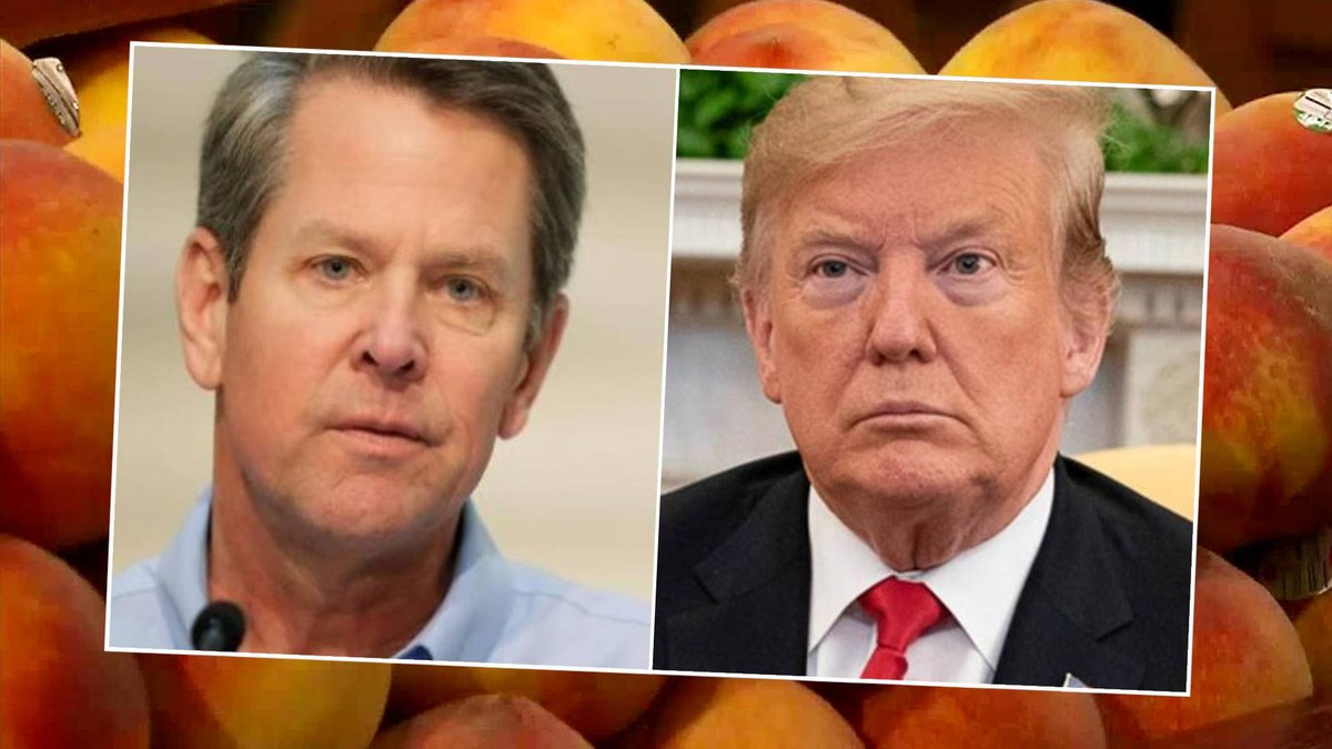 From left: Brian Kemp and Donald Trump