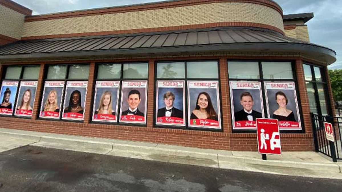 Chick-Fil-A of Moncks Corner is paying tribute to their graduating team members with a special display in their drive thru this week. (Source: Chick-Fil-A)
