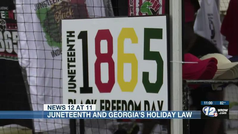 With Juneteenth now a federal holiday, what about Georgia? We reached out to Governor Kemp's...