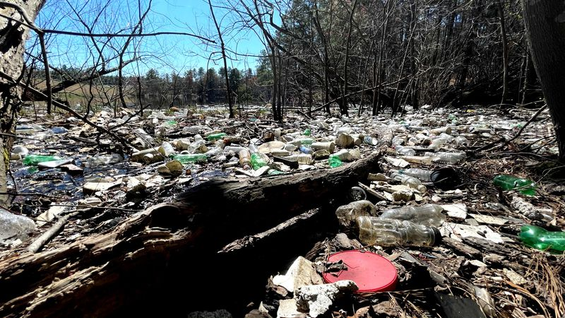 Volunteers cleaned up a lot of this trash at a south Augusta lake, but the work is not done.