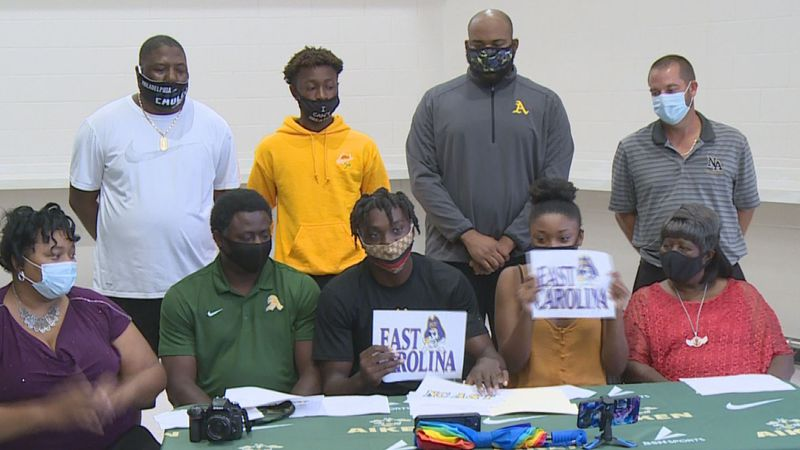 RJ Felton announces he's choosing East Carolina to continue his academic and athletic career.
