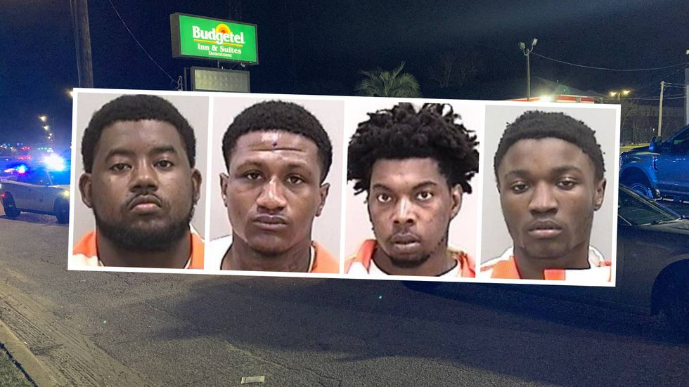 From left: Donquel Moore, Ashston Rouse,  Rahim Brown and Devonte West