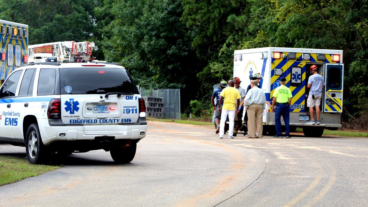 This was the scene at Merriwether Elementary on the morning of Aug. 16, 2021, as emergency...
