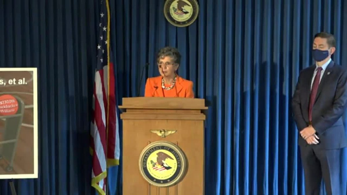 Audrey Strauss, U.S. Attorney for the Southern District of New York, announces charges against...