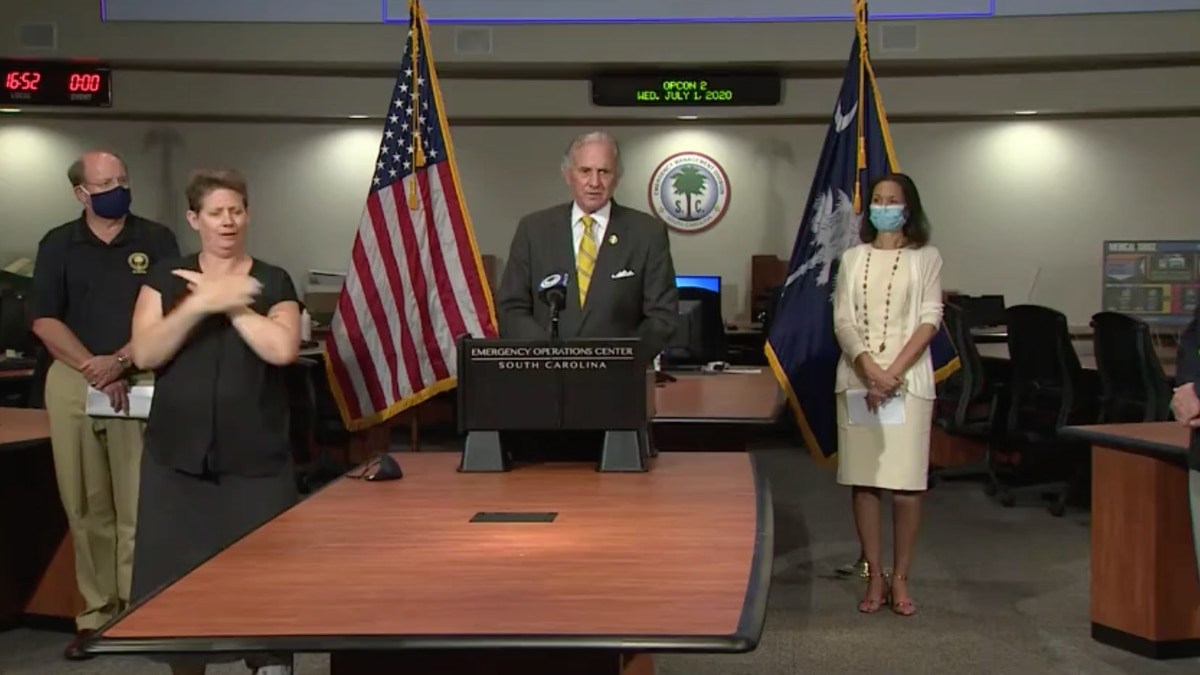 Gov. Henry McMaster said he would not be removing restrictions on large gatherings -- such as high school and college football games -- if cases continue to rise across the state. (Source: WRDW)