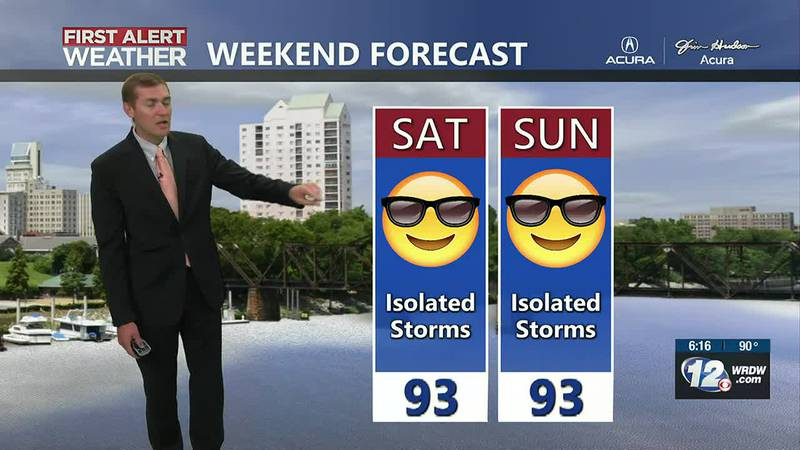 Storms possible Friday, Drier weekend
