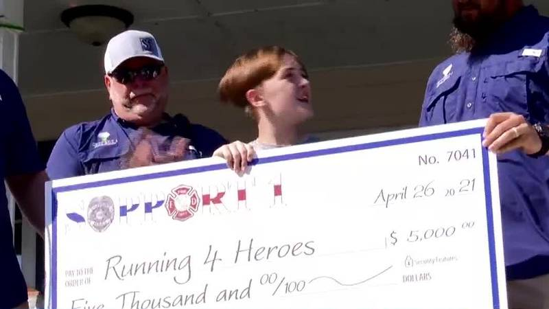 Local 12-year-old runs for a mile for each fallen heroes