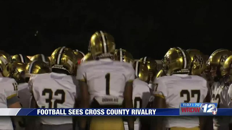 Football sees cross county rivalry