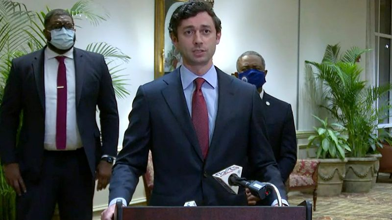 Sen. Jon Ossoff discusses his talk with Augusta leaders on March 30, 2021.