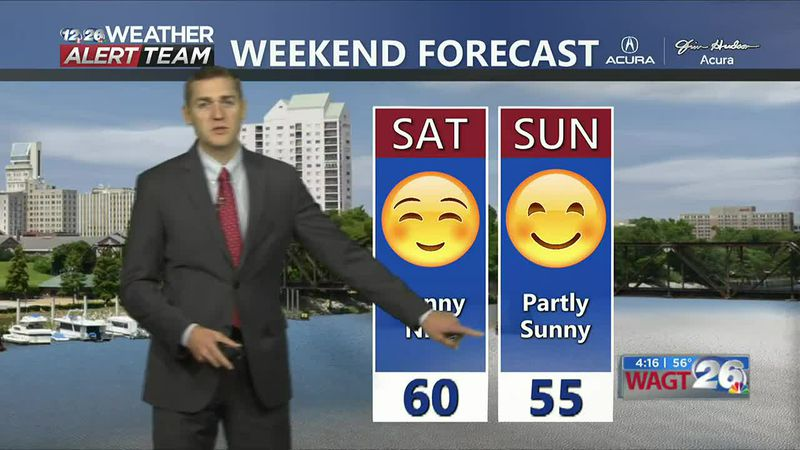 High pressure moves in Saturday bringing back sunshine to the CSRA.