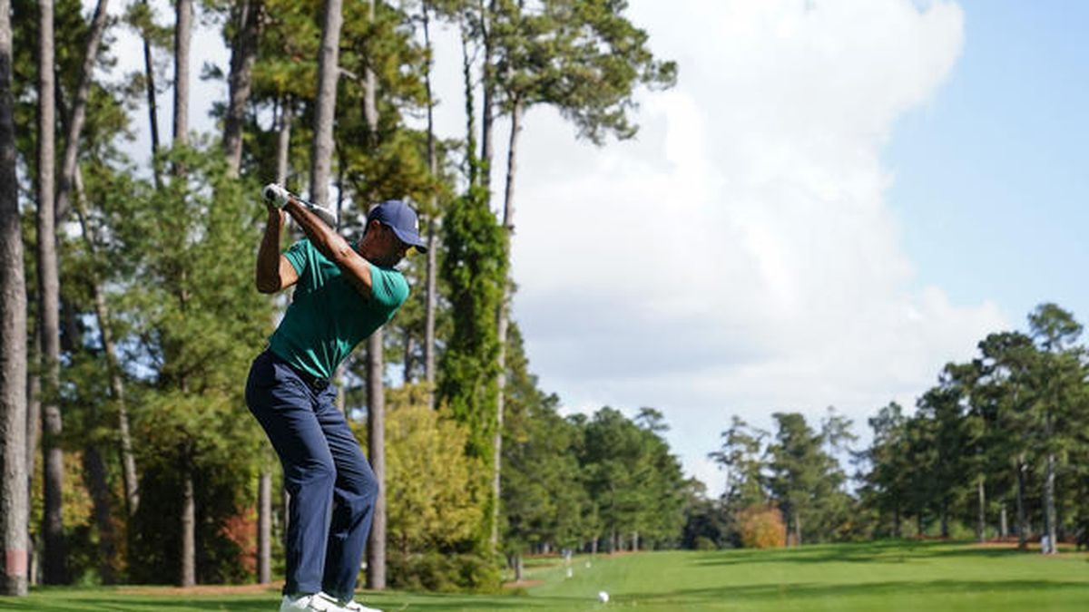 Tiger Woods has already hit the Augusta National Golf Course on Monday for practice shots.