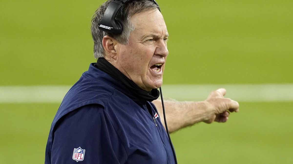 In this Thursday, Dec. 10, 2020, file photo, New England Patriots head coach Bill Belichick...
