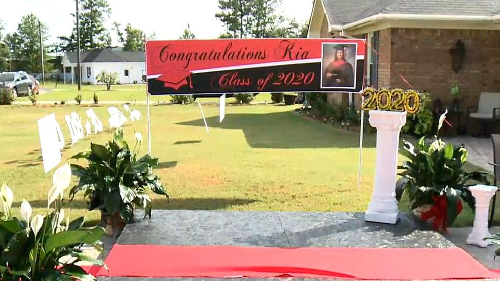 This was the graduation stage built for Zykeia Curry.