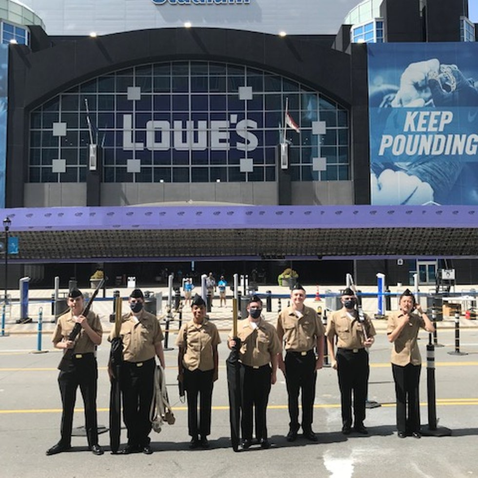 Edgefield County NJROTC Performs at Carolina Panthers Game