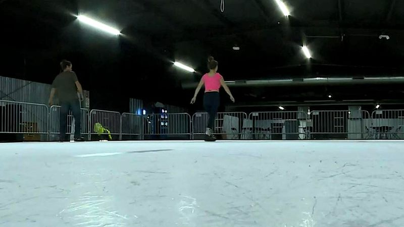 Ice skating but with a twist