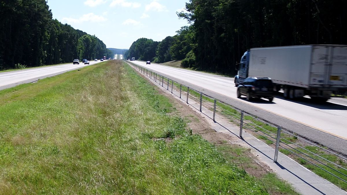 This image from the Georgia Department of Transportation shows a cable barrier.