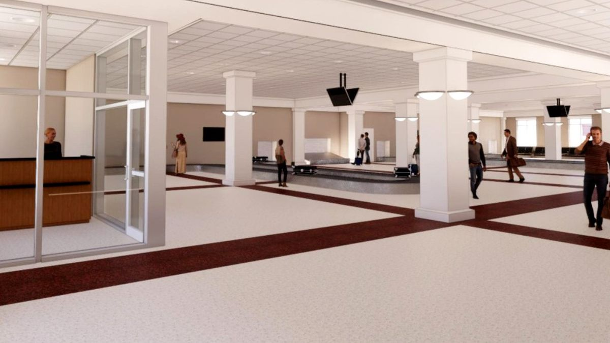 Here's a rendering of what the baggage claim area will look like at the Augusta Regional Airport.