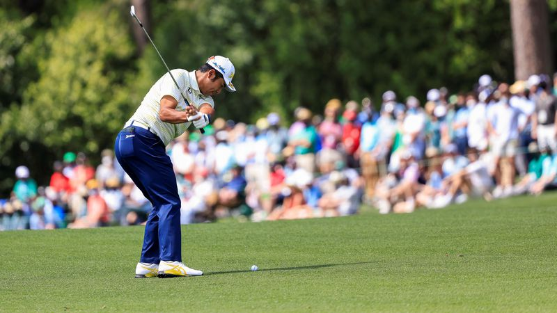 Hideki Matsuyama of Japan plays a stroke on the No. 3 hole during the final round of the...
