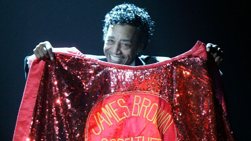 """Danny Ray was James Brown's """"cape man"""" for 40 years. (AP archive photo)"""