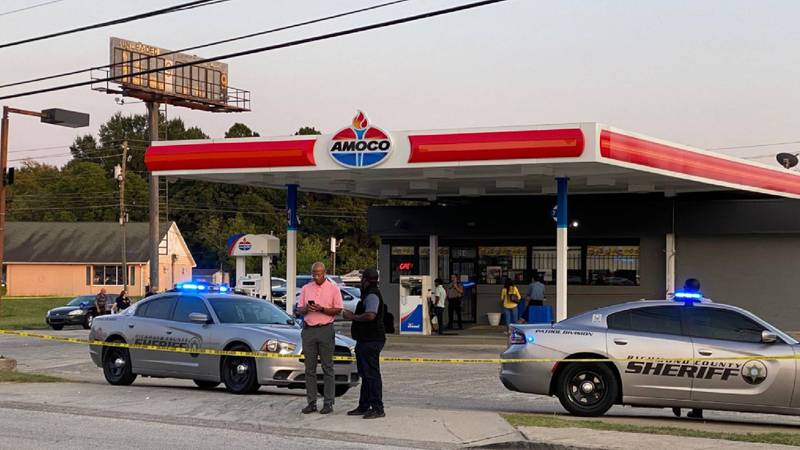 Deputies respond to a reported shooting at the intersection of Deans Bridge Road and...