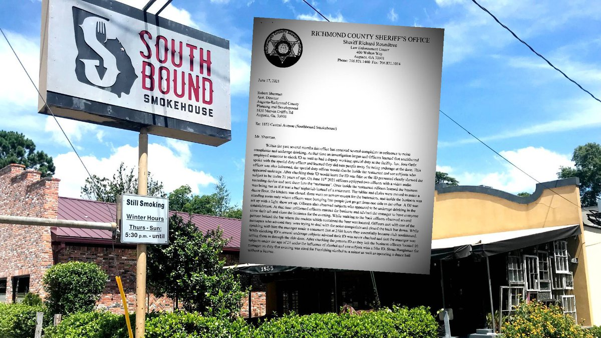 Southbound Smokehouse in Augusta could face trouble after a raid by Richmond County Sheriff's...