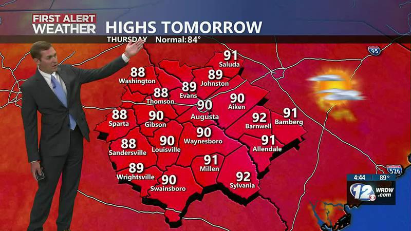Dry and warm next few days