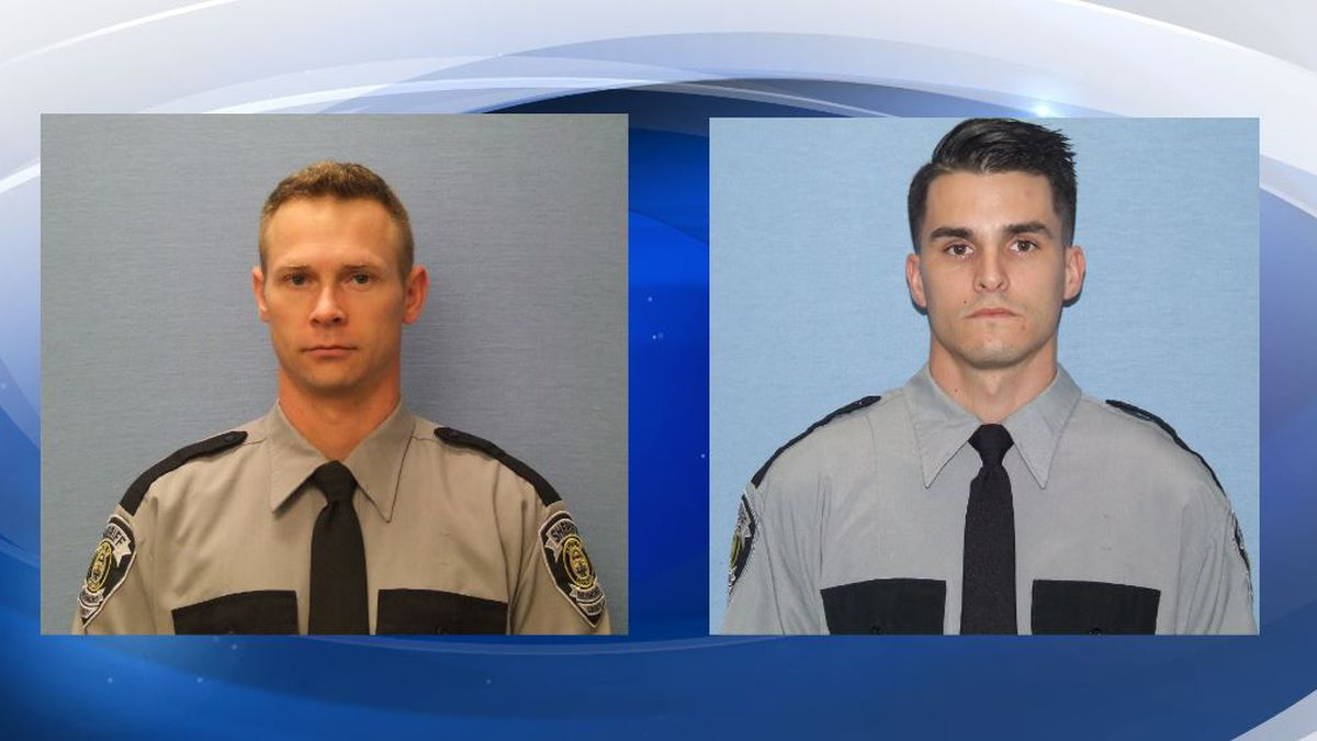 Deputy Keathley (left) is on paid leave after sources say he hit Deputy Nunes (right) in the head during an altercation. (Source: Richmond County Sheriff's Office)