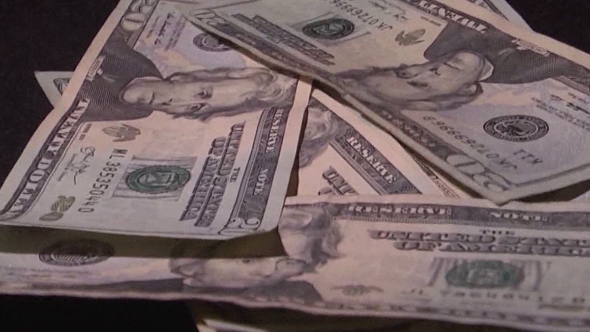 File image of $20 bills