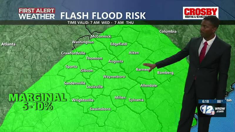 Flash Flood Risk tomorrow