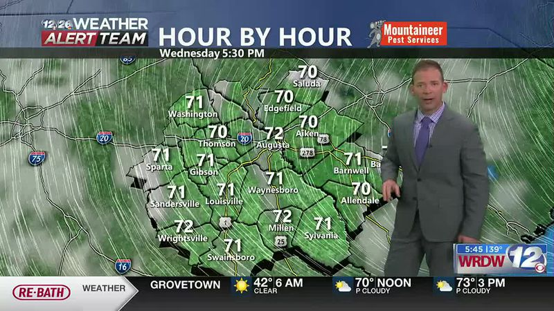 Highs back in the low to mid 70s.