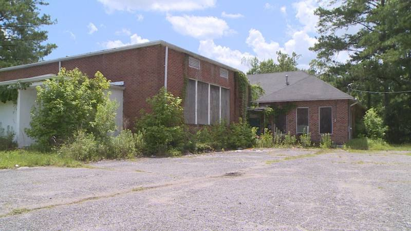 Abandoned alternative school used for porn shoot.