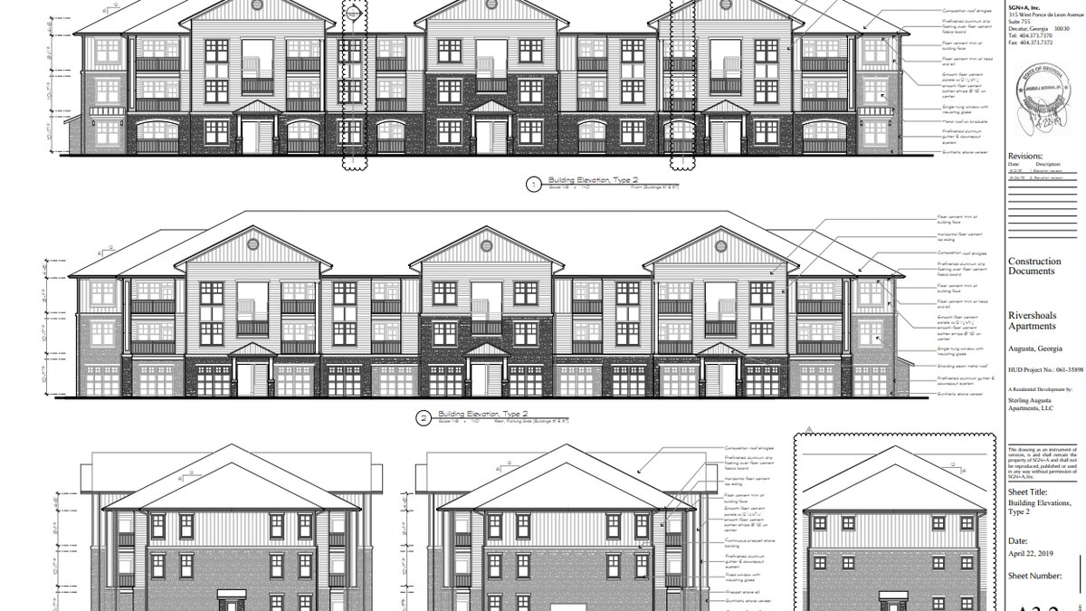 A brand new $53 million apartment complex is coming to the Village at Riverwatch. (Source: Augusta Planning and Development)