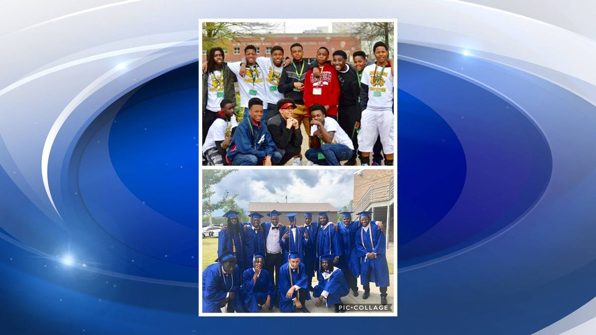These 12 young men took the time to celebrate their Silver Bluff High School graduation by recreating a photo from 8th grade. (Source: WRDW)