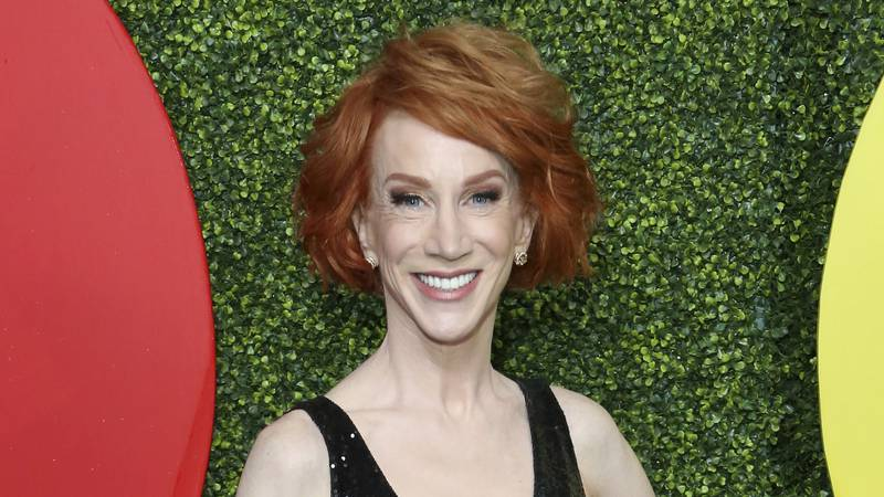 FILE - Comedian Kathy Griffin arrives at the 2018 GQ's Men of the Year Celebration in Beverly...