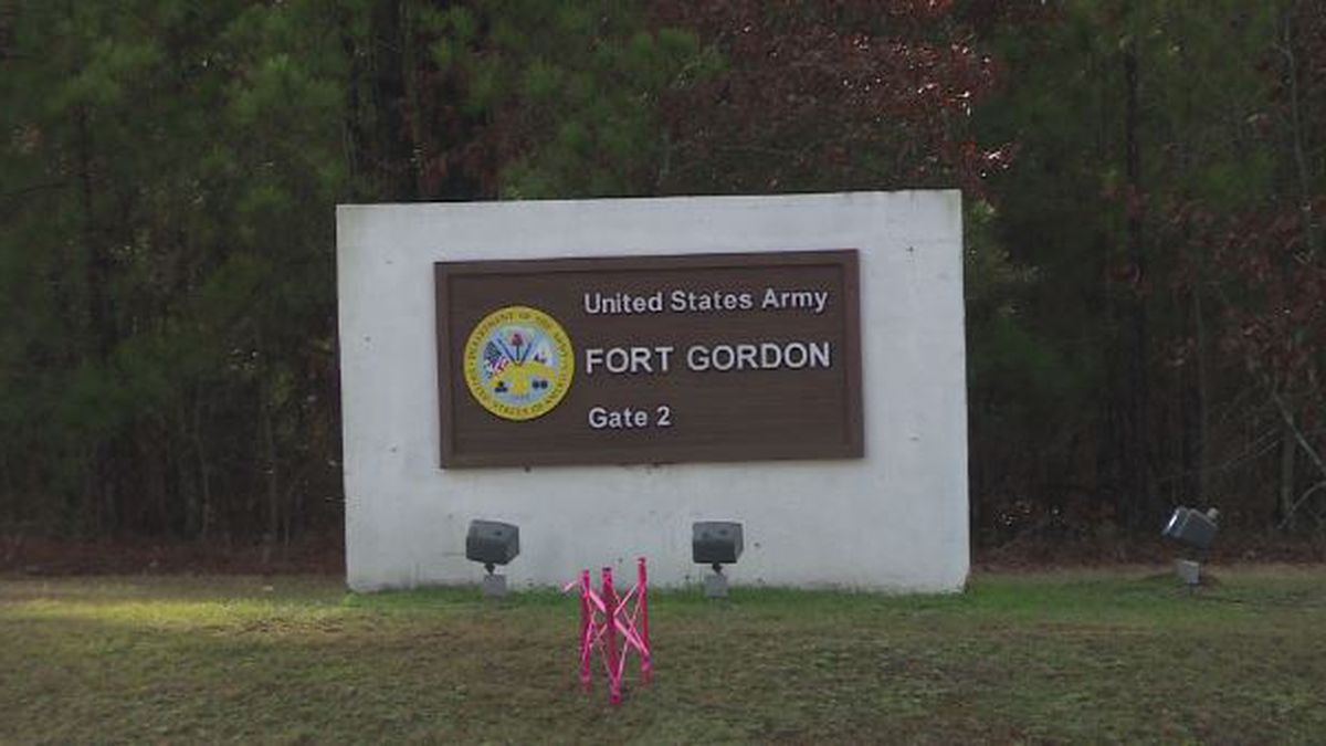 Fort Gordon's gate six is still under construction, but road work by Georgia Department of Transportation officials almost complete. (Source: WRDW)