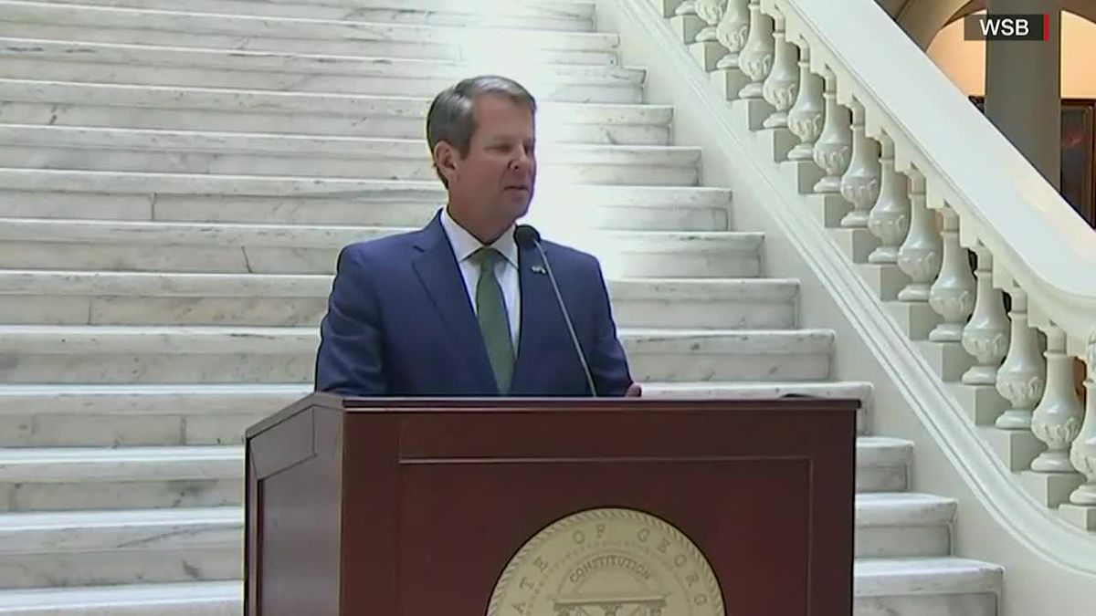 Georgia Gov. Brian Kemp lashed out at a leaked report warning that Georgia needed to take stronger measures.