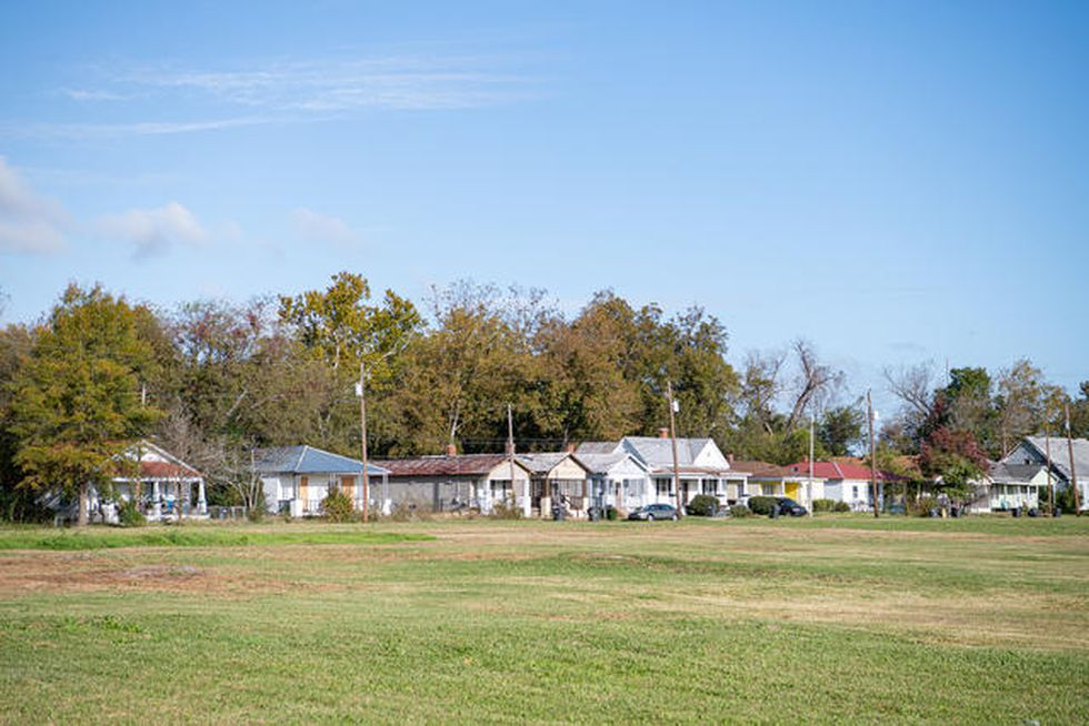 The edge of the Harrisburg neighborhood in Augusta, Ga, where the new Hub community center and...