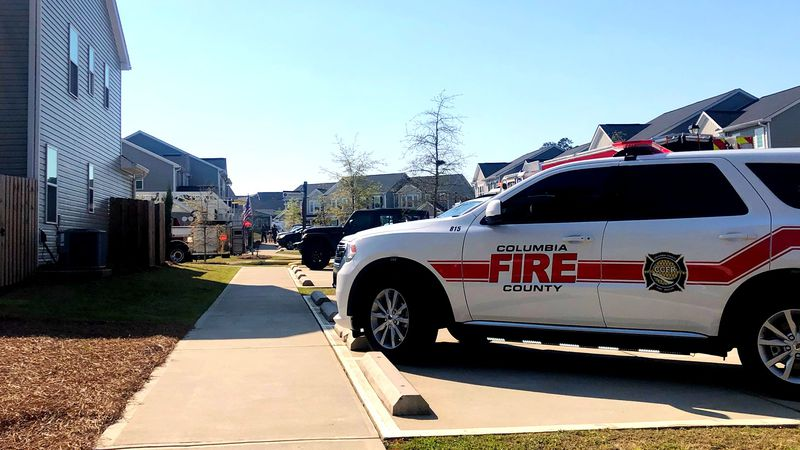 This was the scene on Aberdeen Circle near Grovetown after crews responded to a fire that...