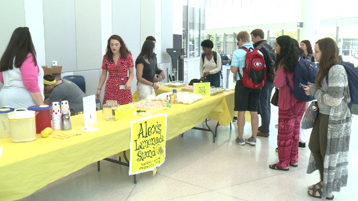 Lemonade stand at Augusta University to raise funds for Alex's Lemonade Stand Foundation.